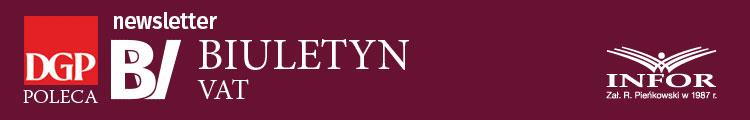 Newsletter Biuletynu VAT Logo